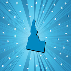 Blue Idaho map