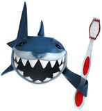 Fototapety Requin et brosse à dents