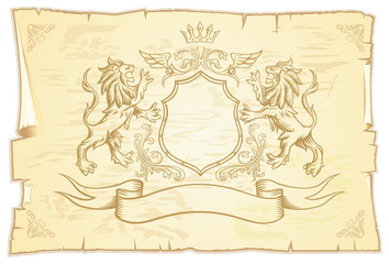 Ancient Scroll with lions