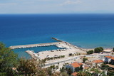 Greece - Samos - Karlovassi - Pier poster