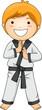 Boy In Martial Arts Pose