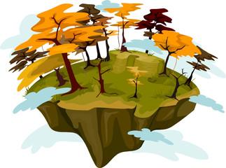 Autumn Floating Island