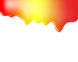 liquido rojo y  amarillo