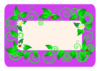 Floral card. Vector illustration.