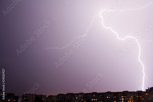 forked lightning by night