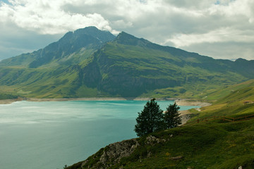 Lago del Moncenisio (colle del Moncenisio, Francia)