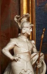 baroque statue of soldier