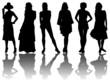 6 silhouettes of women /7