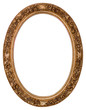 Leinwanddruck Bild - Oval gold picture frame