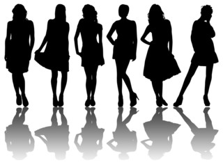 6 silhouettes of women /9