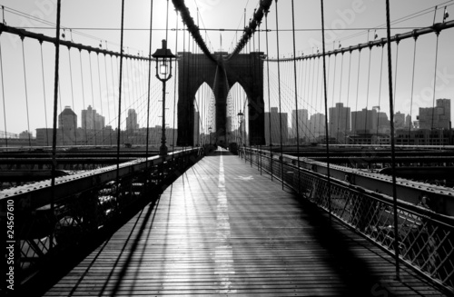 Naklejka Brooklyn Bridge, Manhattan, Nowy Jork, USA
