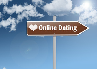 "Signpost ""Online Dating"""