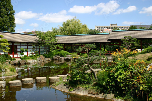 Jardin japonais nantes photo libre de droits sur la for Achat jardin nantes