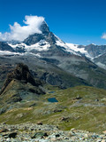 Matterhorn (Monte Cervino) mountain in Switzerland Alps