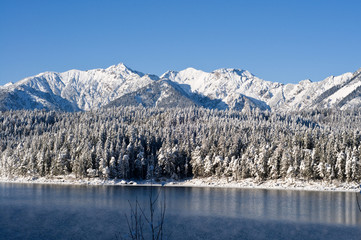 Eibsee im Winter