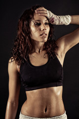 female fitness body