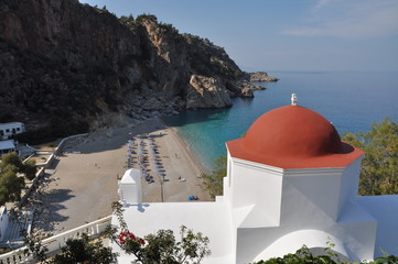 KARPATHOS GREECE KYRA PANAGIA BEACH VIEW