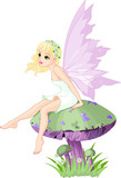 Fairy on the Mushroom