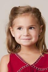 Portrait of pretty little 5 year old