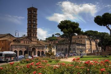 Piazza della Bocca della Verita - Place of mouth of truth