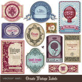 Fototapety set of decorative vintage labels for all purposes