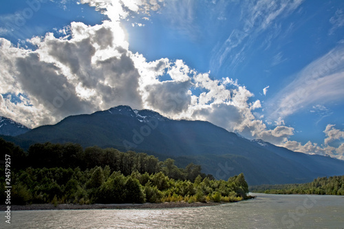 View of the Squamish River at Brackendale Eagles Provincial Park