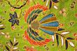 Quadro green batik pattern