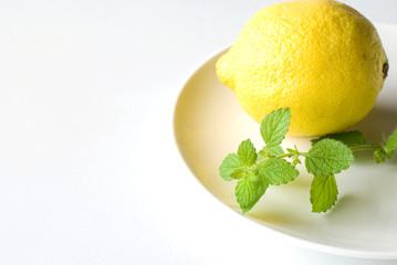 レモンバームとレモン