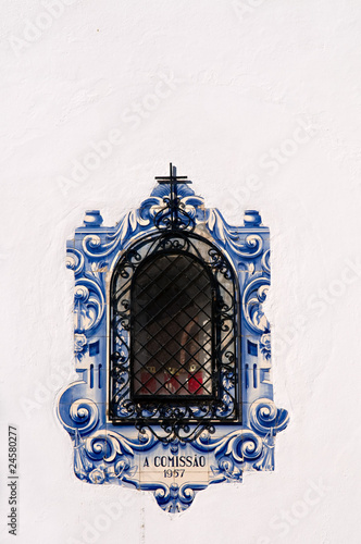 Decorated window, Portugal..
