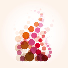 circle abstract vector background