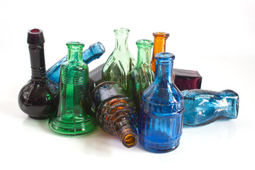 colourful old style bottles