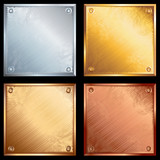 Fototapety Metal plates set