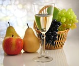 white wine with fruits