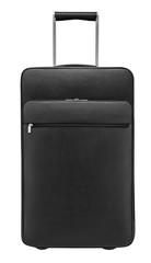 Suitcase on wheels.