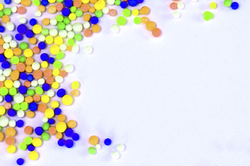 Colorful sugar background