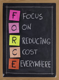 focus on reducing cost everywhere poster