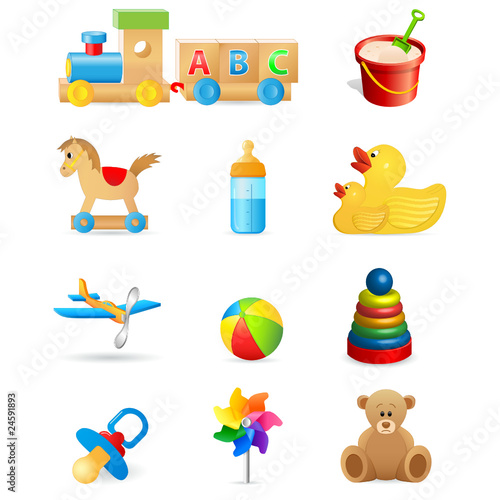 Kinderspielzeug - Icons