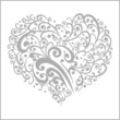 ornamental grey heart shape