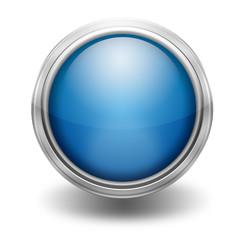 Icono borde metalico azul
