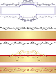 Borders and frames. Vector