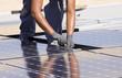 Leinwanddruck Bild - photovoltaic panels