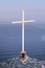 wooden cross in Kaliakra, Bulgaria
