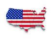 USA flag map. 3d
