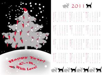 small calendar tree