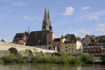 Sommerhochwasser in Regensburg