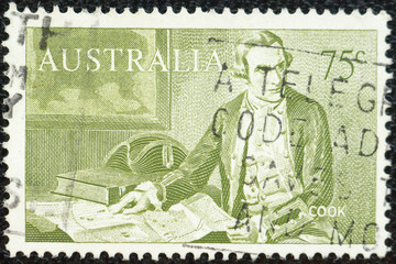AUSTRALIA stamp depicting a British explorer Captain James Cook.