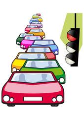 Auto ferme al semaforo