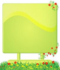 ökologisches werbeschild