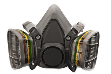 Conservation-Restoration  Gas Mask isolated on white