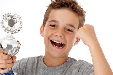 Sieger-Typ Erfolgreicher jugendlicher Sportler